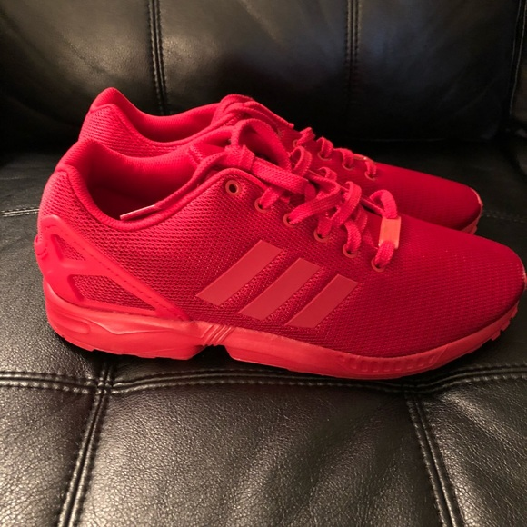 best website 4fdbf 41489 Adidas Originals ZX FLUX RED MESH Size 13 New